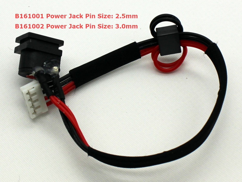 Toshiba Satellite A100 A105 Tecra A7 V000922070 V000922060 2.5mm 3.0mm Pin AC DC Power Jack Socket Connector Charging Port DC IN Cable Wire Harness