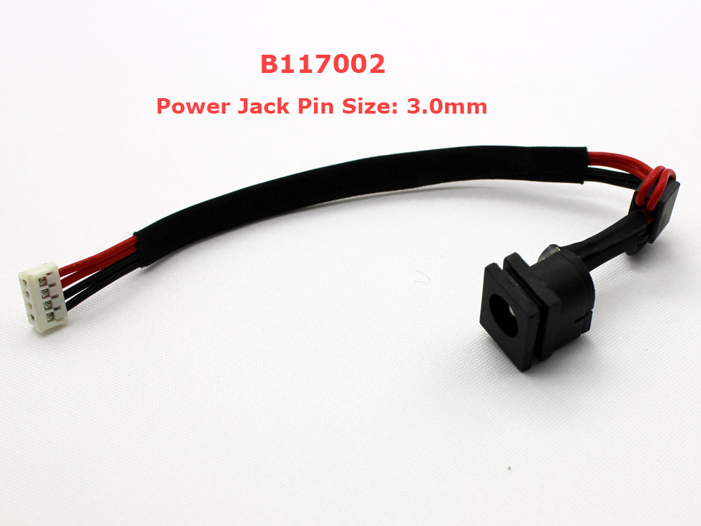 Toshiba Satellite M115 2.5mm 3.0mm Pin AC DC Power Jack Socket Connector Charging Port DC IN Cable Wire Harness